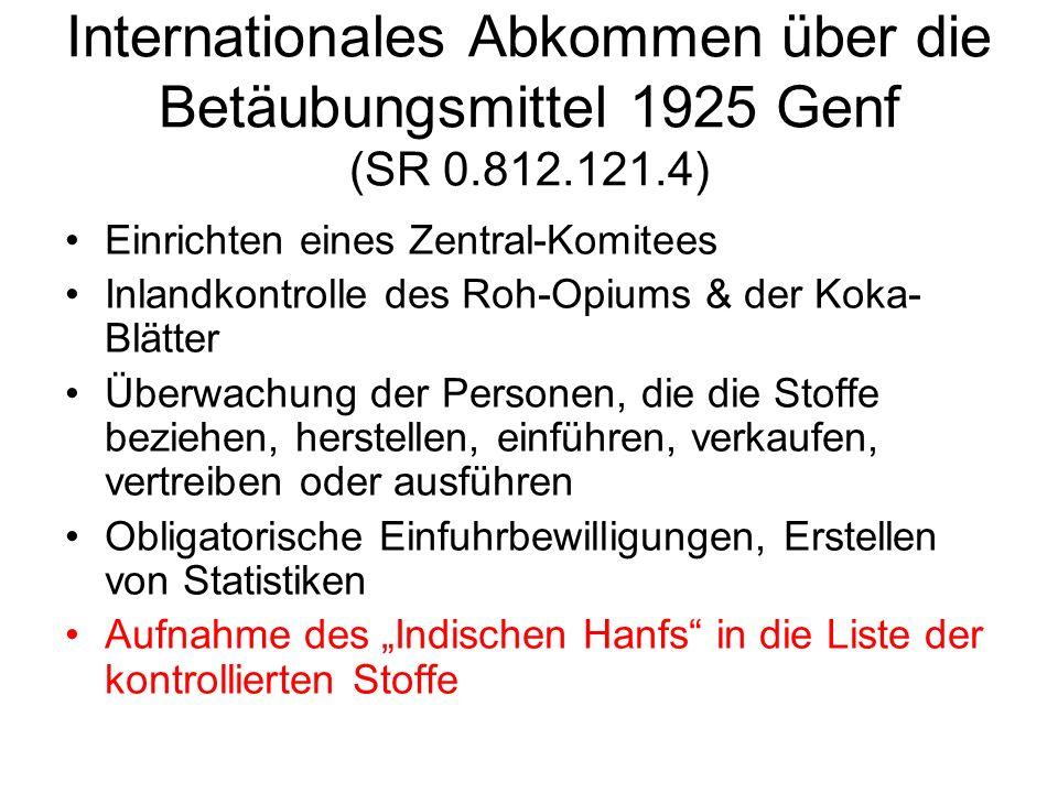 Internationales Abkommen über die Betäubungsmittel 1925 Genf (SR 0.812.121.4)