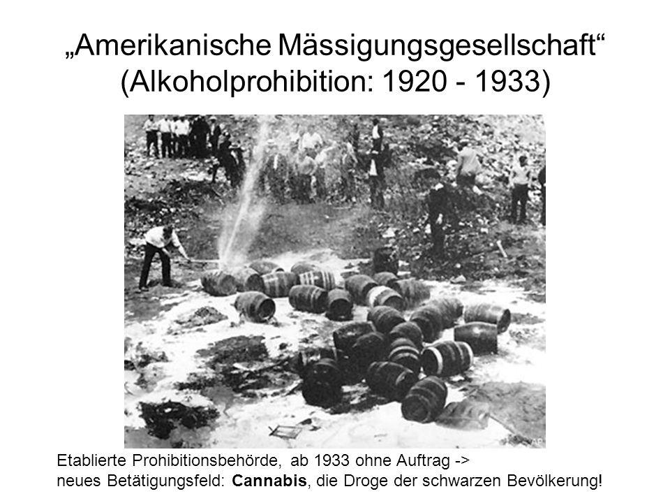 """""""Amerikanische Mässigungsgesellschaft (Alkoholprohibition: 1920 - 1933)"""