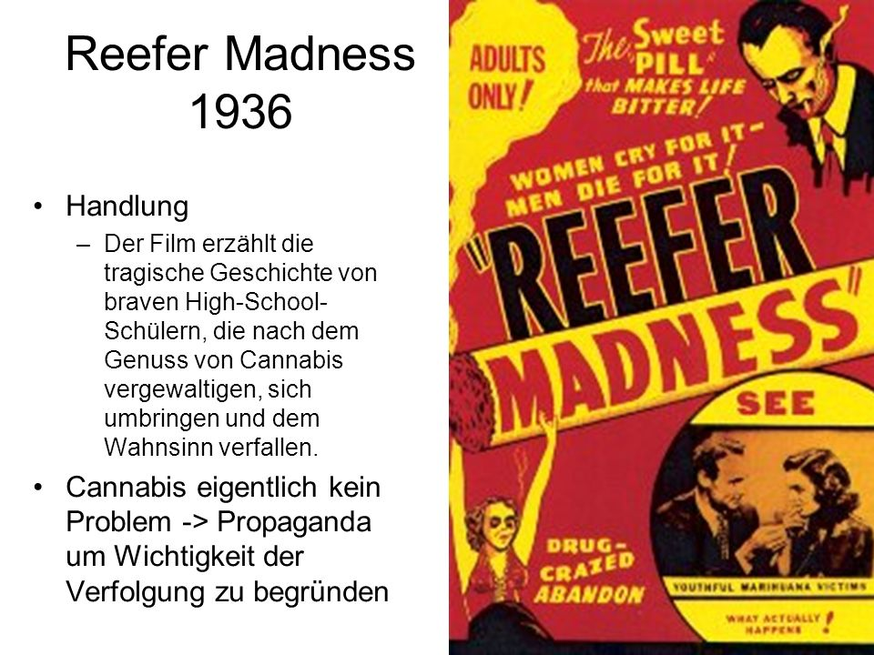 Reefer Madness 1936 Handlung
