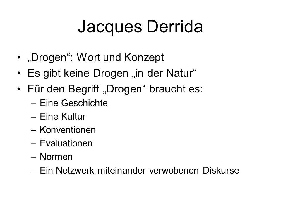 """Jacques Derrida """"Drogen : Wort und Konzept"""