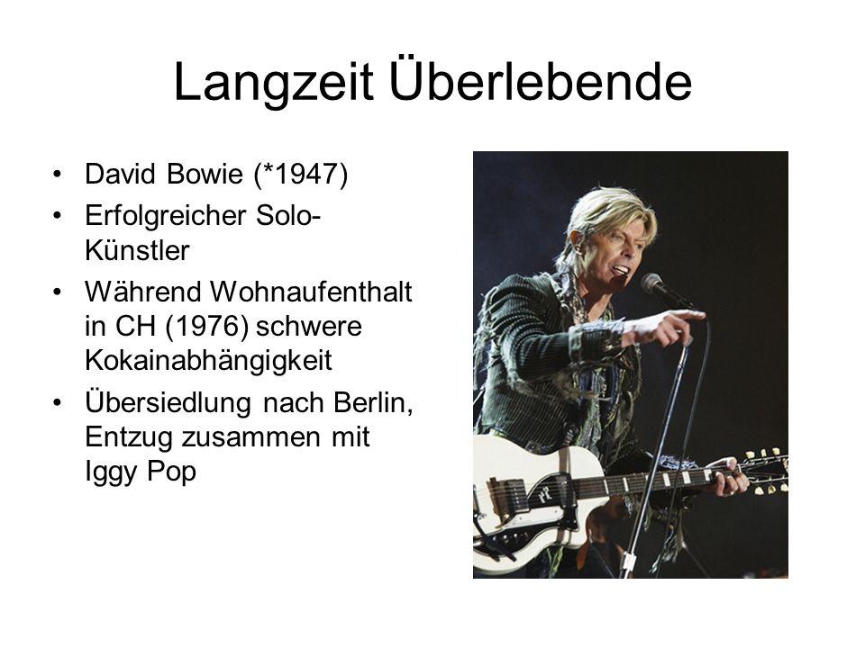 Langzeit Überlebende David Bowie (*1947) Erfolgreicher Solo-Künstler