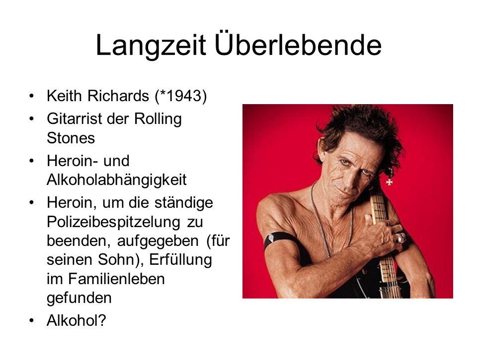 Langzeit Überlebende Keith Richards (*1943)