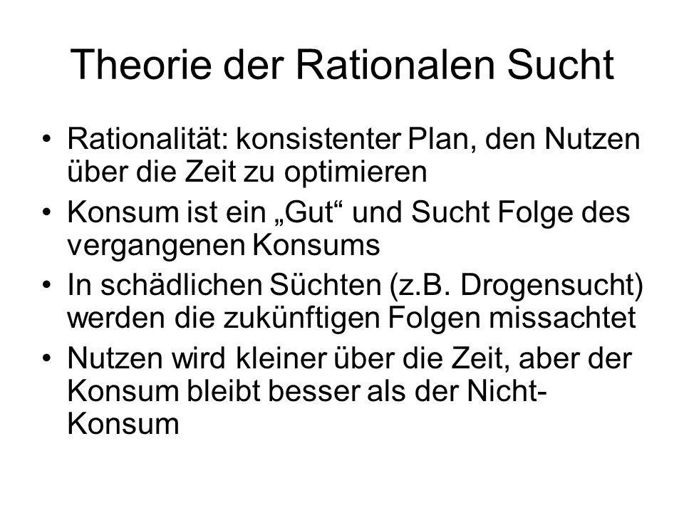 Theorie der Rationalen Sucht
