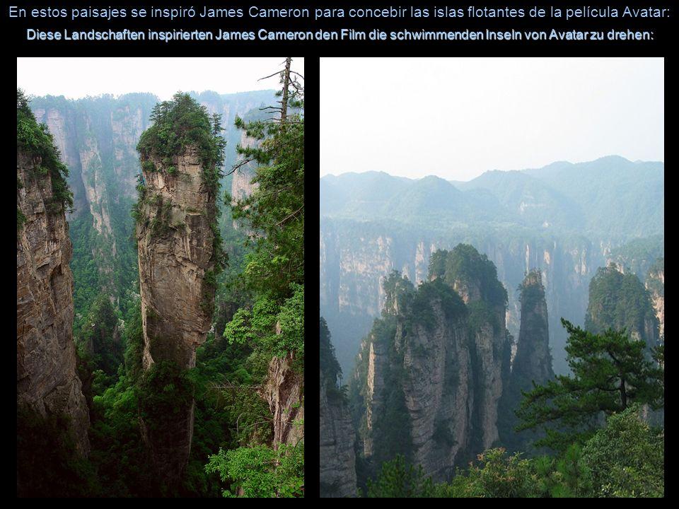 En estos paisajes se inspiró James Cameron para concebir las islas flotantes de la película Avatar: