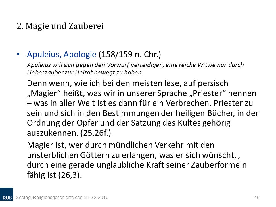 Apuleius, Apologie (158/159 n. Chr.)