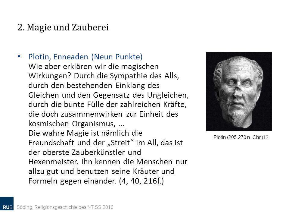 2. Magie und Zauberei