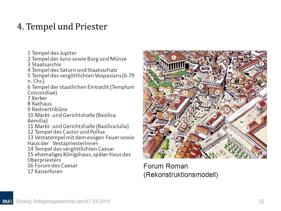 4. Tempel und Priester Forum Roman (Rekonstruktionsmodell)