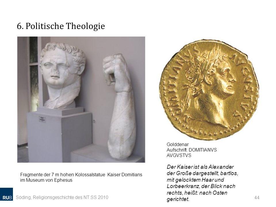6. Politische Theologie Golddenar Aufschrift: DOMITIANVS AVGVSTVS.