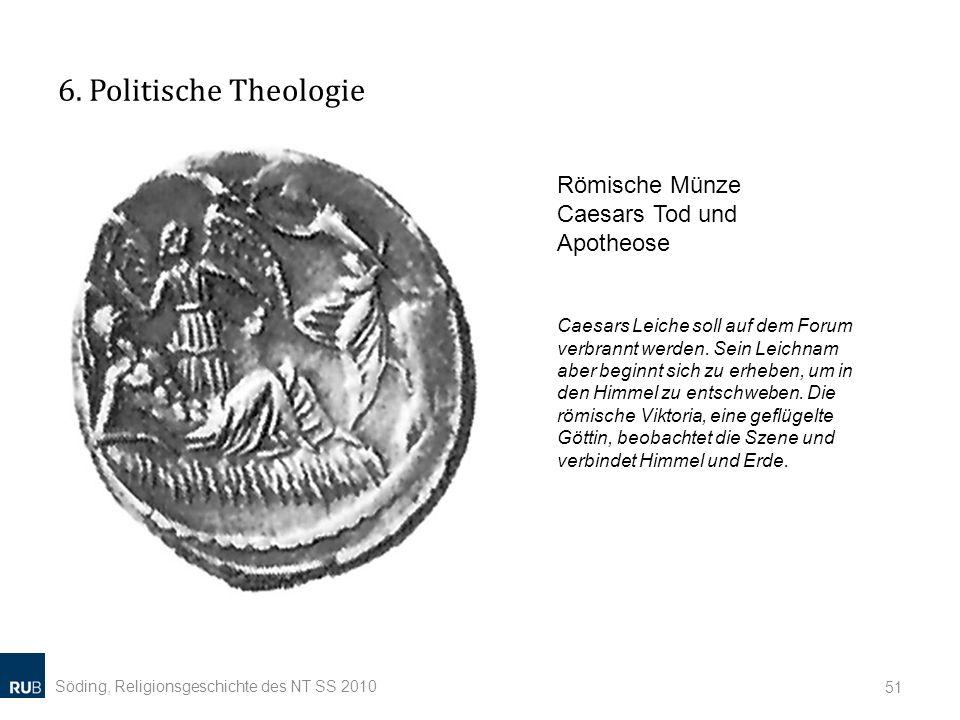6. Politische Theologie Römische Münze Caesars Tod und Apotheose