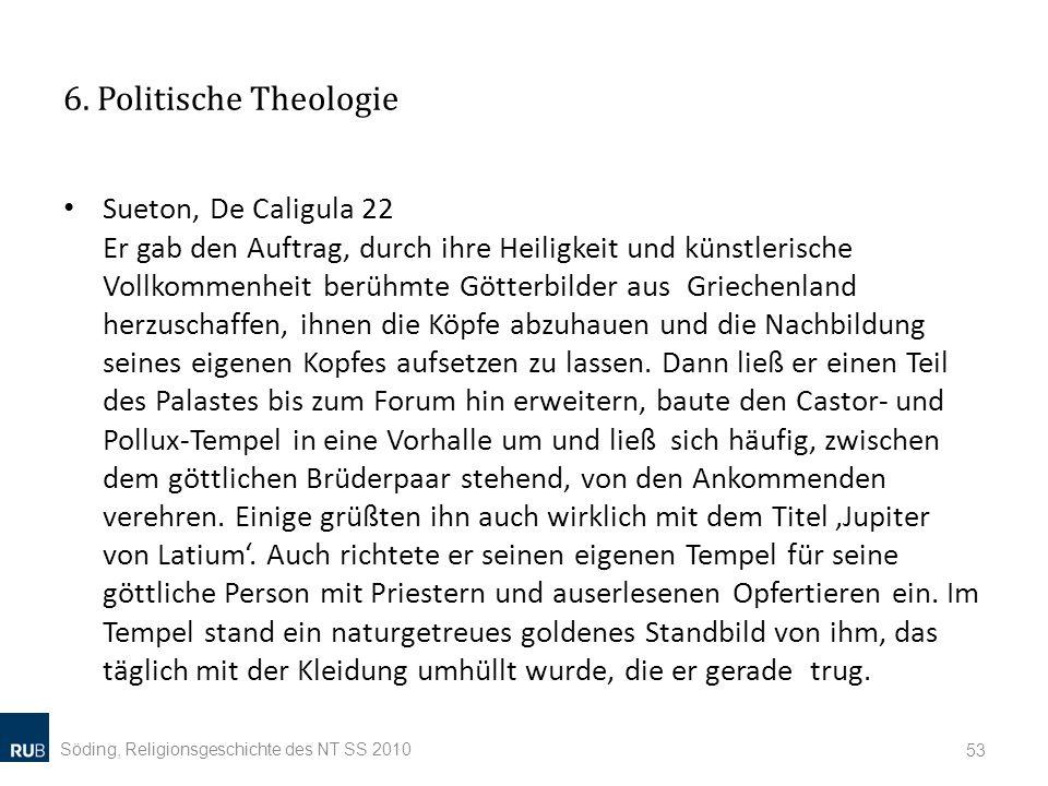 6. Politische Theologie