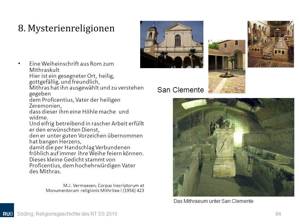 8. Mysterienreligionen San Clemente