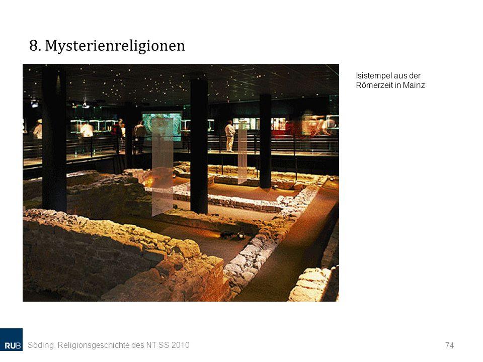 8. Mysterienreligionen Isistempel aus der Römerzeit in Mainz