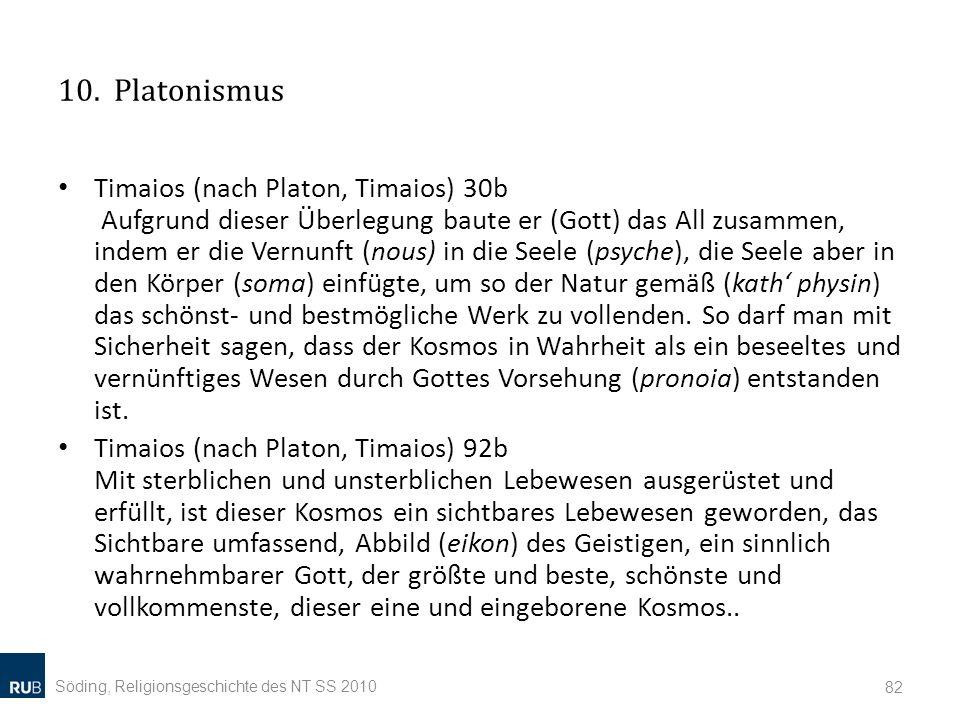 10. Platonismus