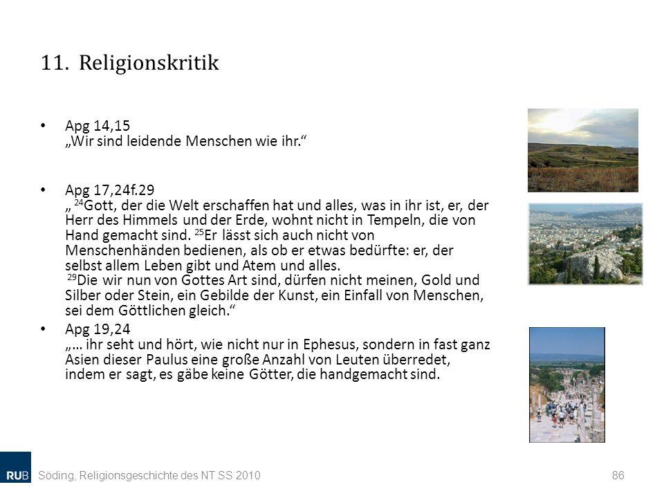 """11. Religionskritik Apg 14,15 """"Wir sind leidende Menschen wie ihr."""