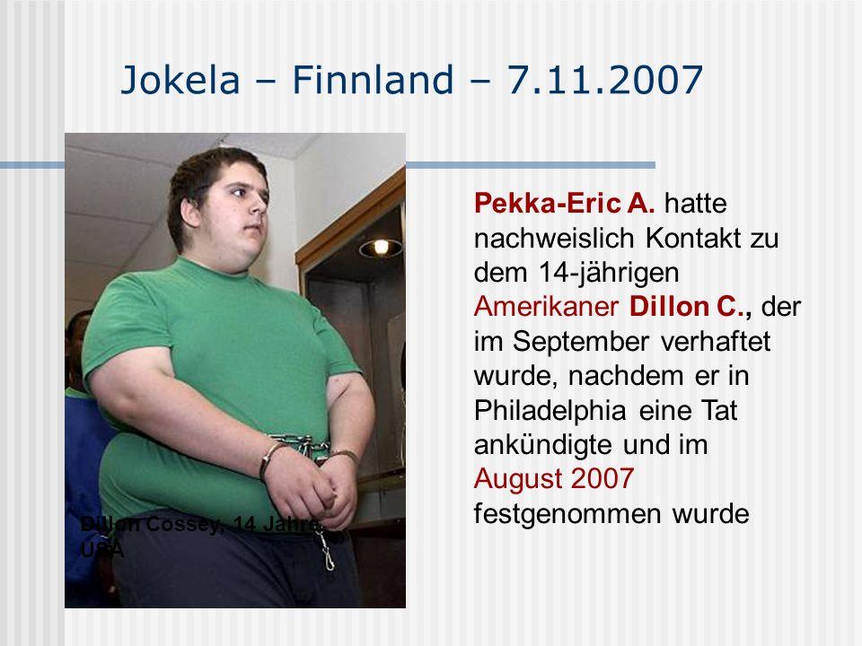 Jokela – Finnland – 7.11.2007