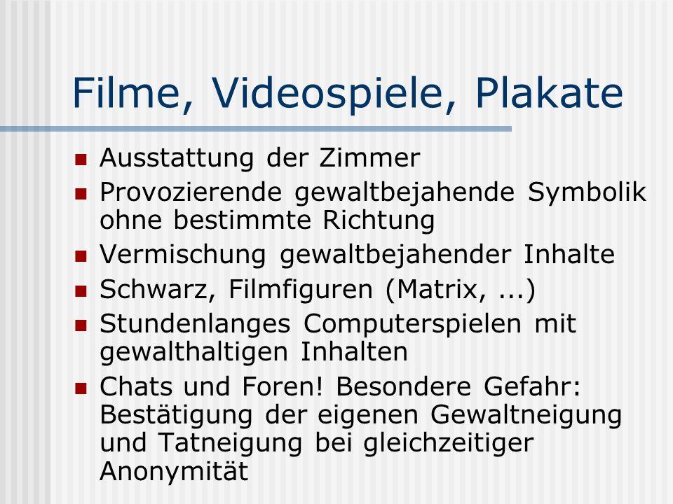 Filme, Videospiele, Plakate