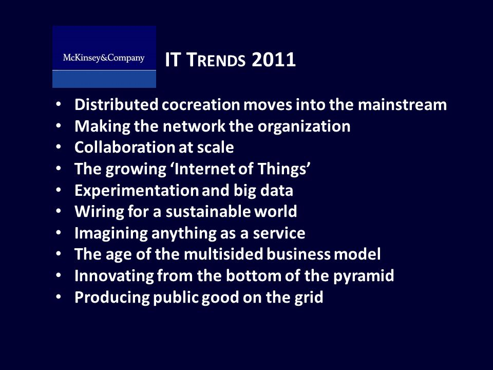 IT Trends 2011 Distributed cocreation moves into the mainstream