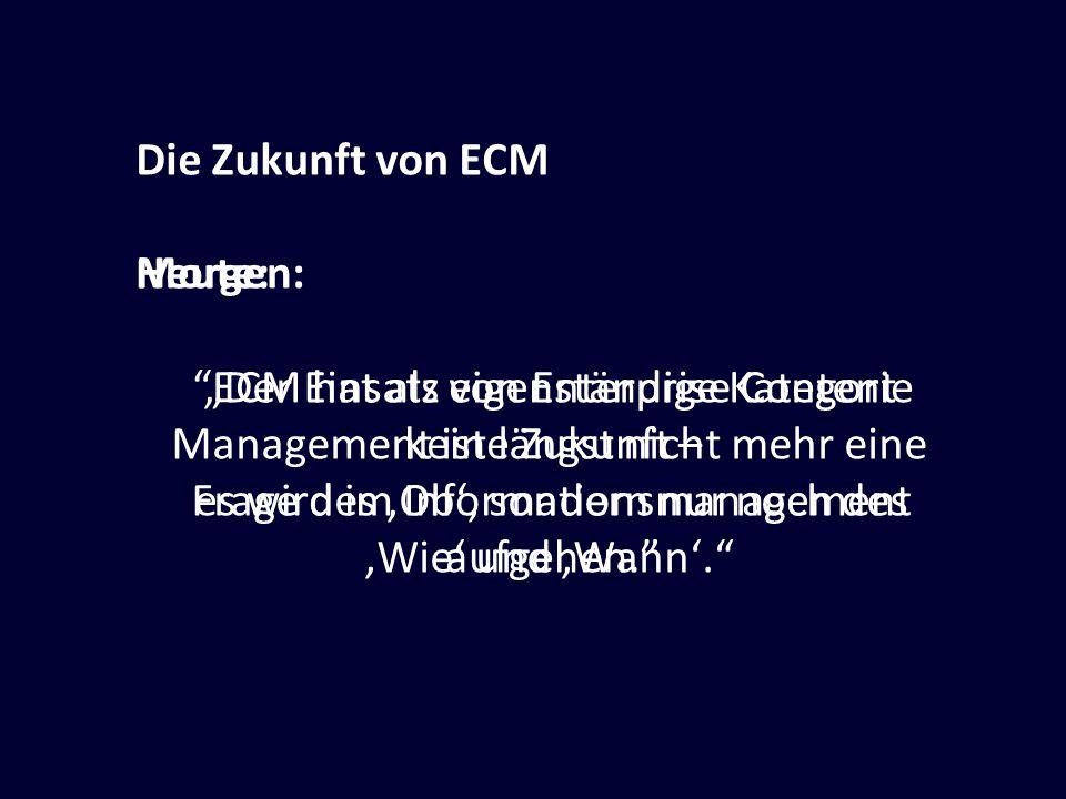 """""""Der Einsatz von Enterprise Content"""