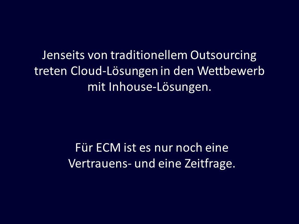 Für ECM ist es nur noch eine Vertrauens- und eine Zeitfrage.