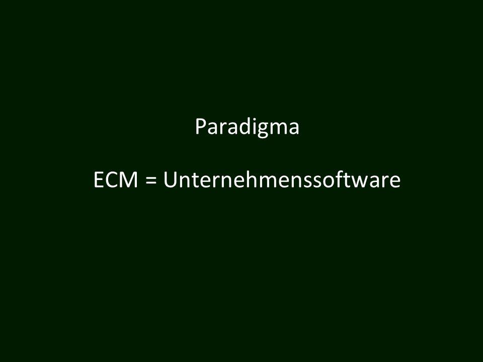 ECM = Unternehmenssoftware