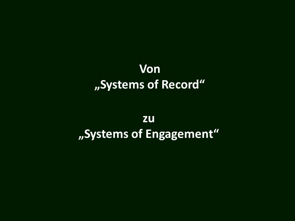 "Von ""Systems of Record"