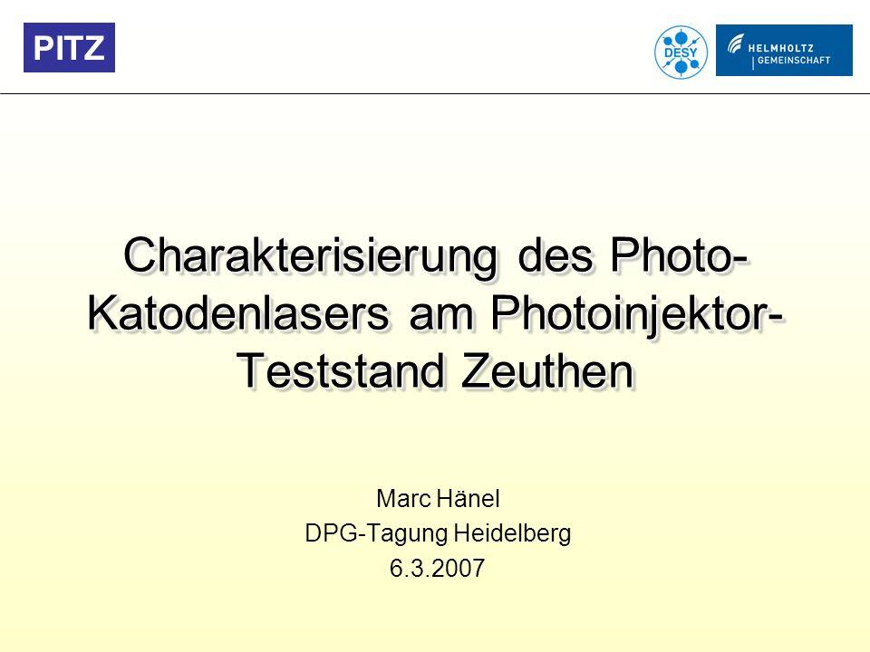 Marc Hänel DPG-Tagung Heidelberg 6.3.2007