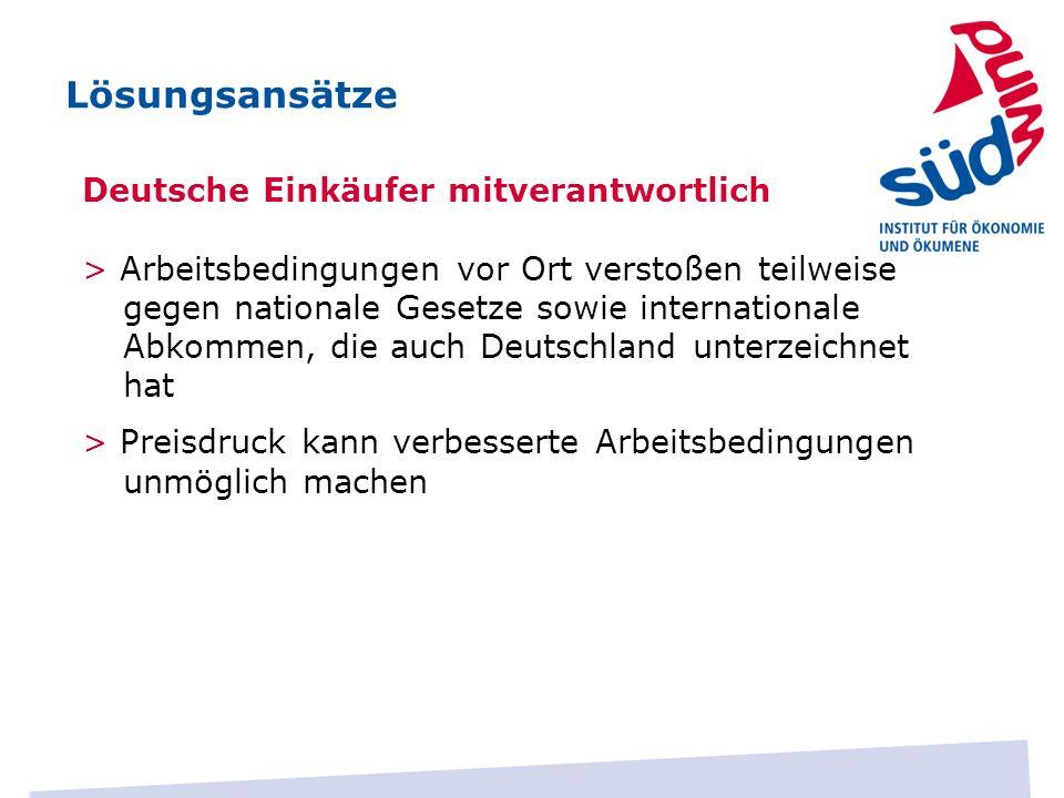 Lösungsansätze Deutsche Einkäufer mitverantwortlich