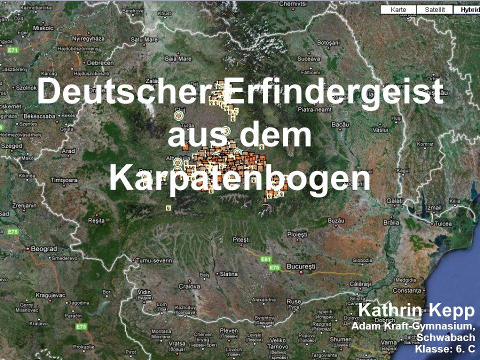 Deutscher Erfindergeist aus dem Karpatenbogen
