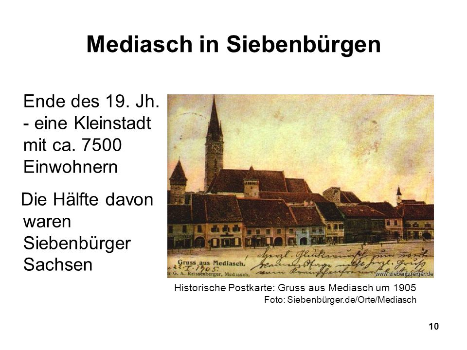 Mediasch in Siebenbürgen
