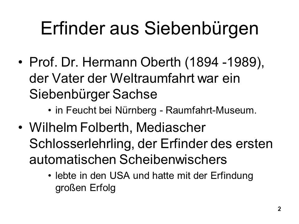 Erfinder aus Siebenbürgen