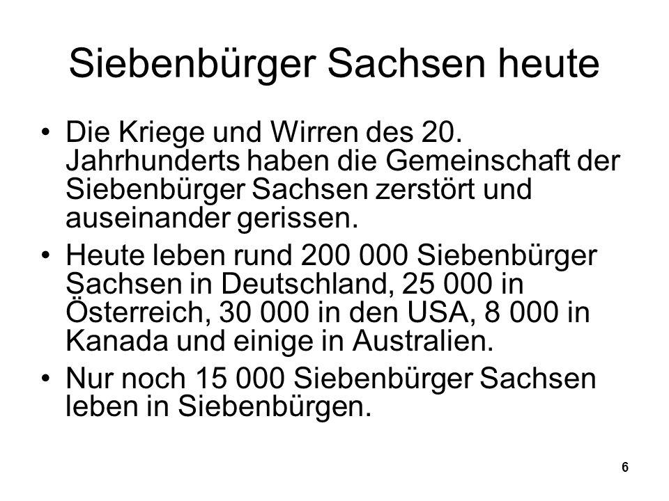 Siebenbürger Sachsen heute