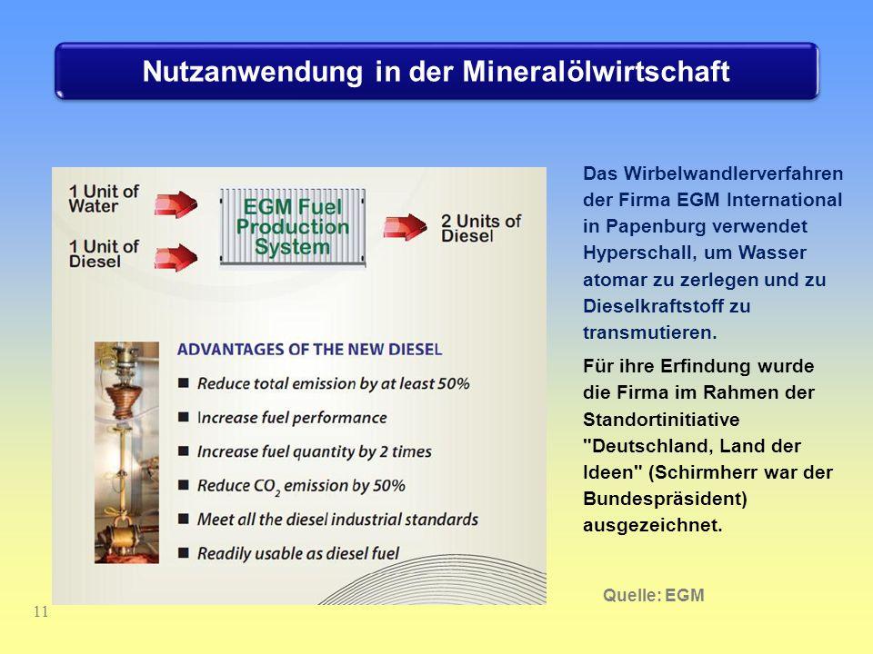 Nutzanwendung in der Mineralölwirtschaft