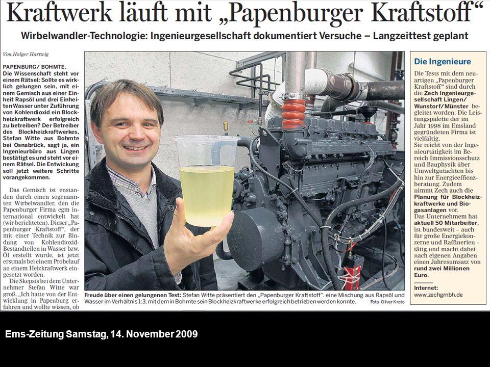 Ems-Zeitung Samstag, 14. November 2009