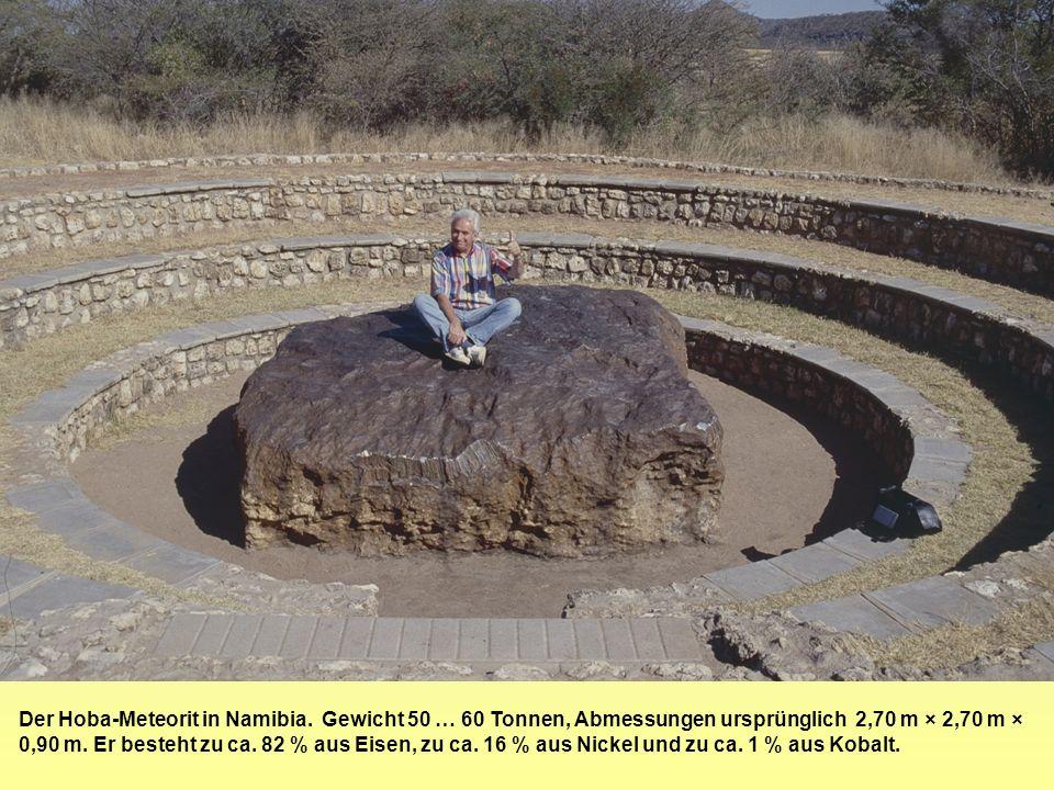 Der Hoba-Meteorit in Namibia