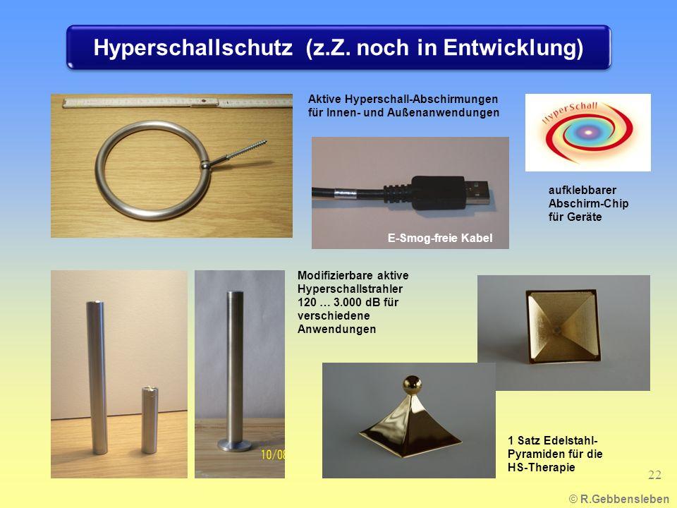 Hyperschallschutz (z.Z. noch in Entwicklung)
