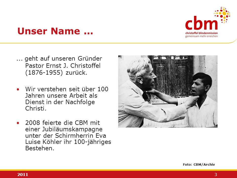 Unser Name ... ... geht auf unseren Gründer Pastor Ernst J. Christoffel. (1876-1955) zurück.