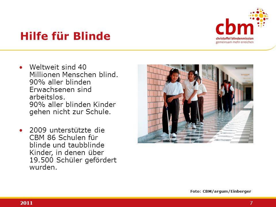 Hilfe für Blinde