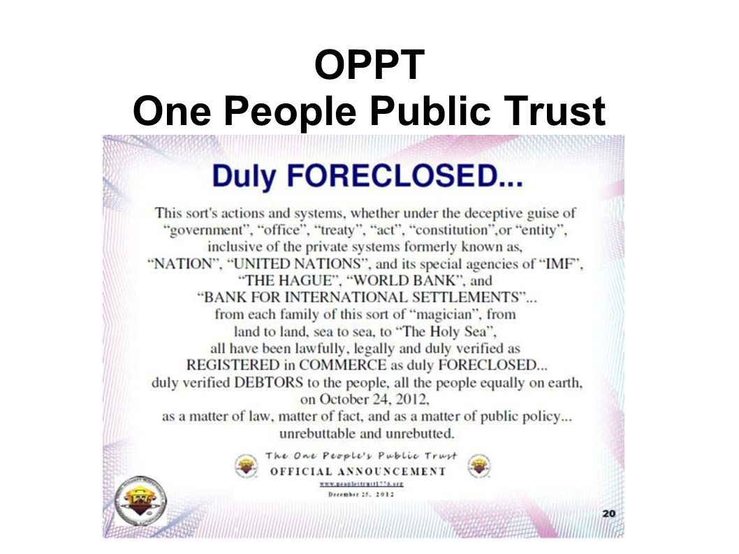 OPPT One People Public Trust