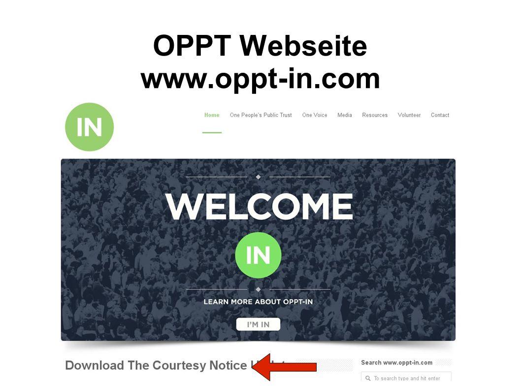 OPPT Webseite www.oppt-in.com