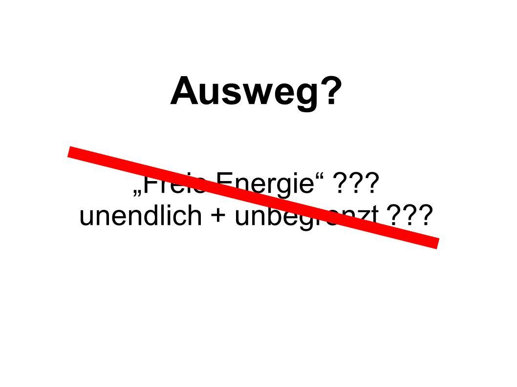 """""""Freie Energie unendlich + unbegrenzt"""