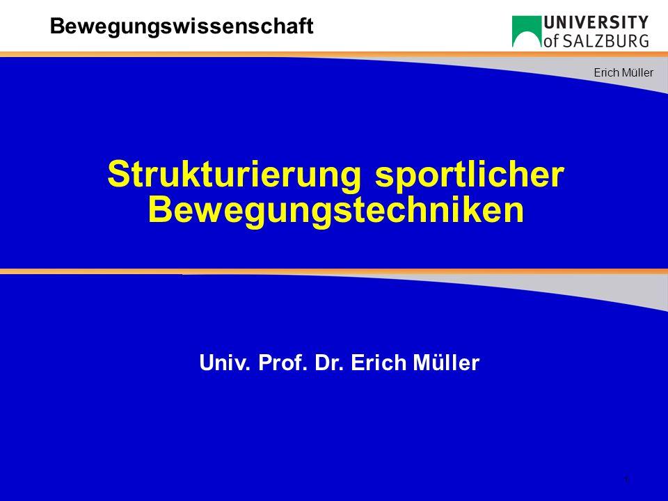 Strukturierung sportlicher Univ. Prof. Dr. Erich Müller