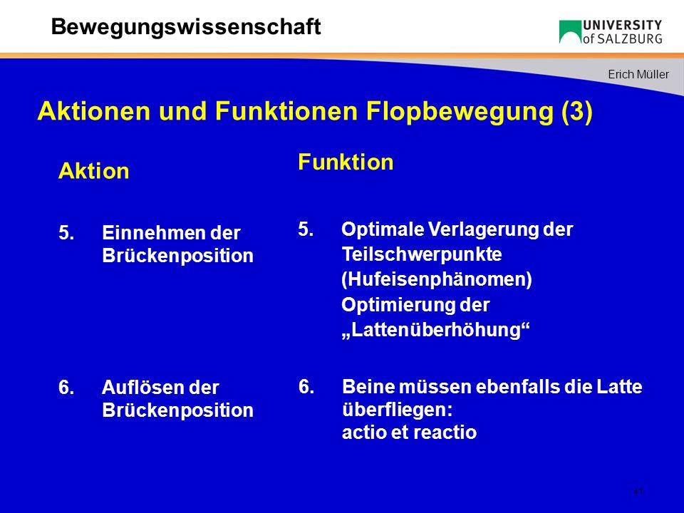 Aktionen und Funktionen Flopbewegung (3)