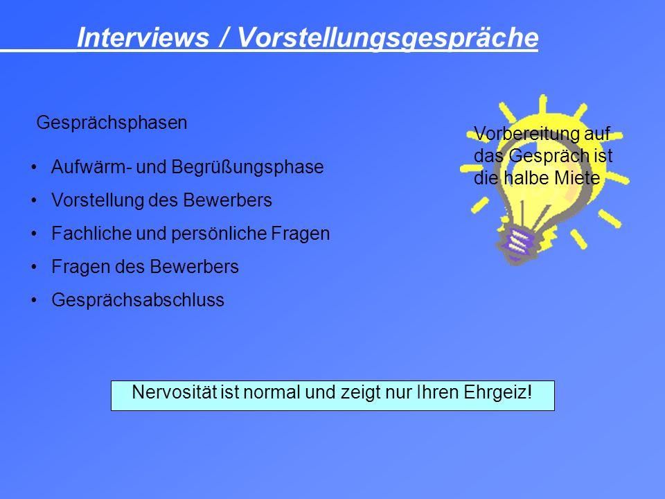 _____Interviews / Vorstellungsgespräche