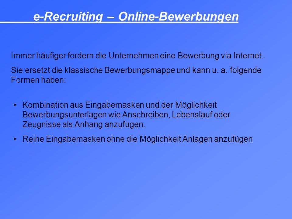 _____e-Recruiting – Online-Bewerbungen