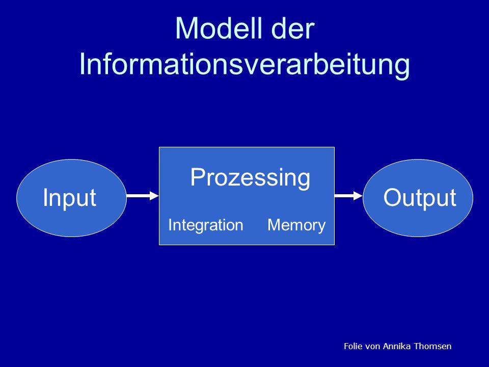 Modell der Informationsverarbeitung