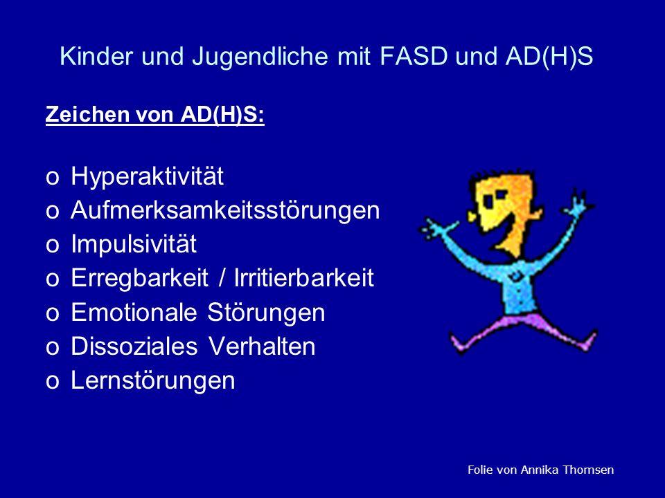 Kinder und Jugendliche mit FASD und AD(H)S