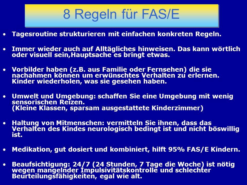 8 Regeln für FAS/E Tagesroutine strukturieren mit einfachen konkreten Regeln.