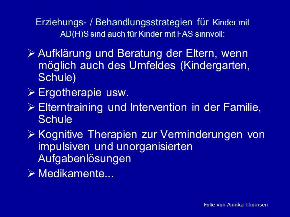 Elterntraining und Intervention in der Familie, Schule