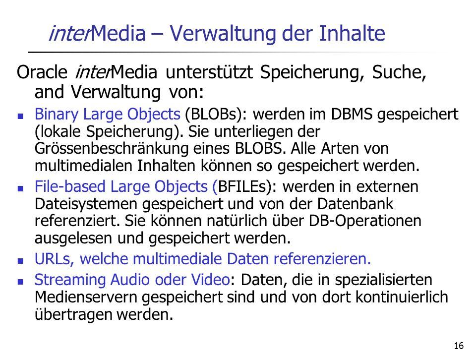 interMedia – Verwaltung der Inhalte