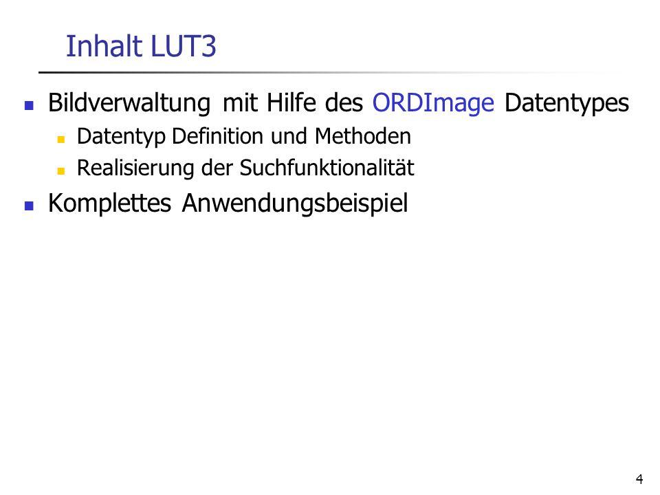 Inhalt LUT3 Bildverwaltung mit Hilfe des ORDImage Datentypes